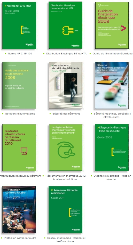 Les guides Schneider Electric 2011