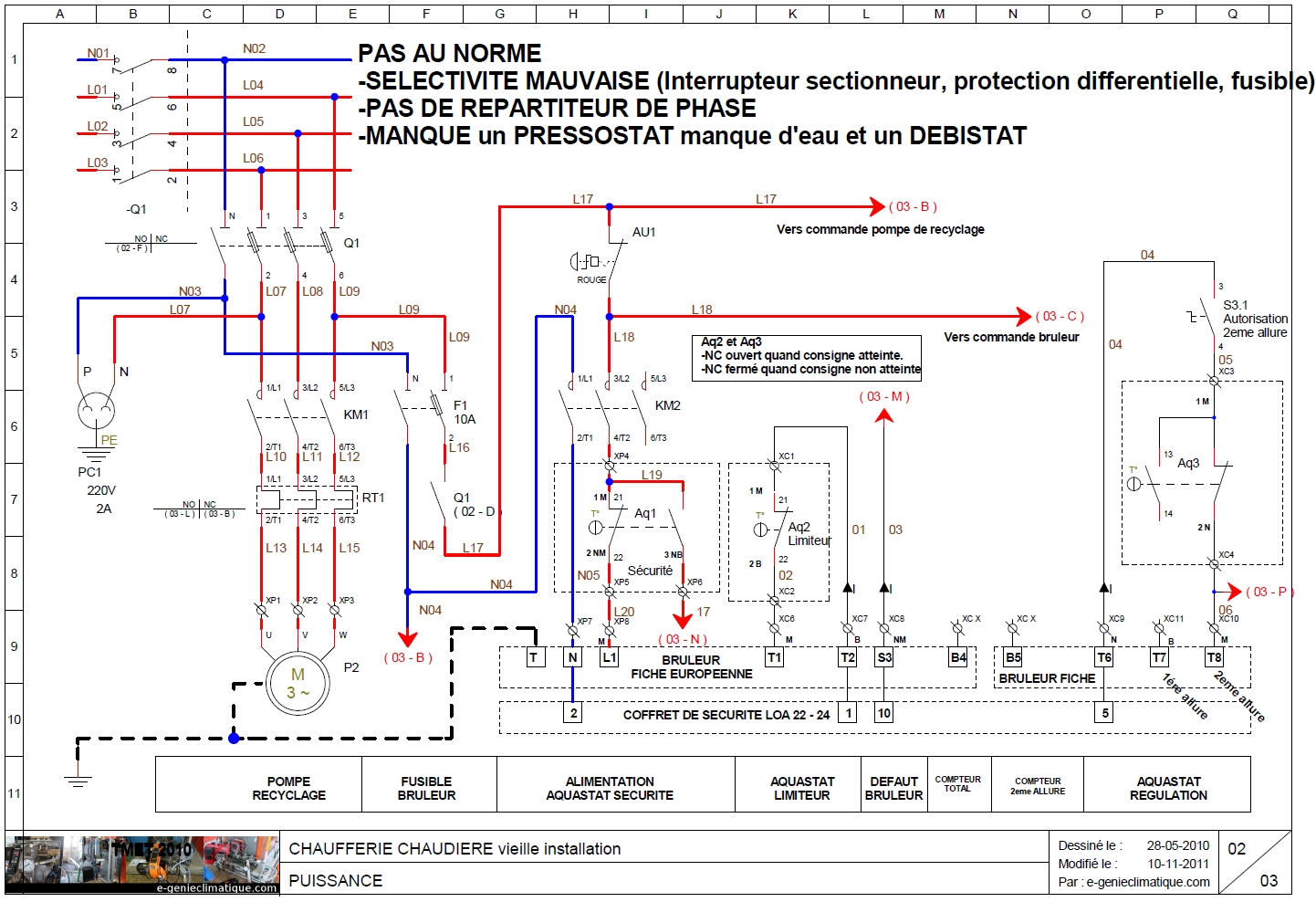 Image gallery schema electricite for Alimentation maison commande