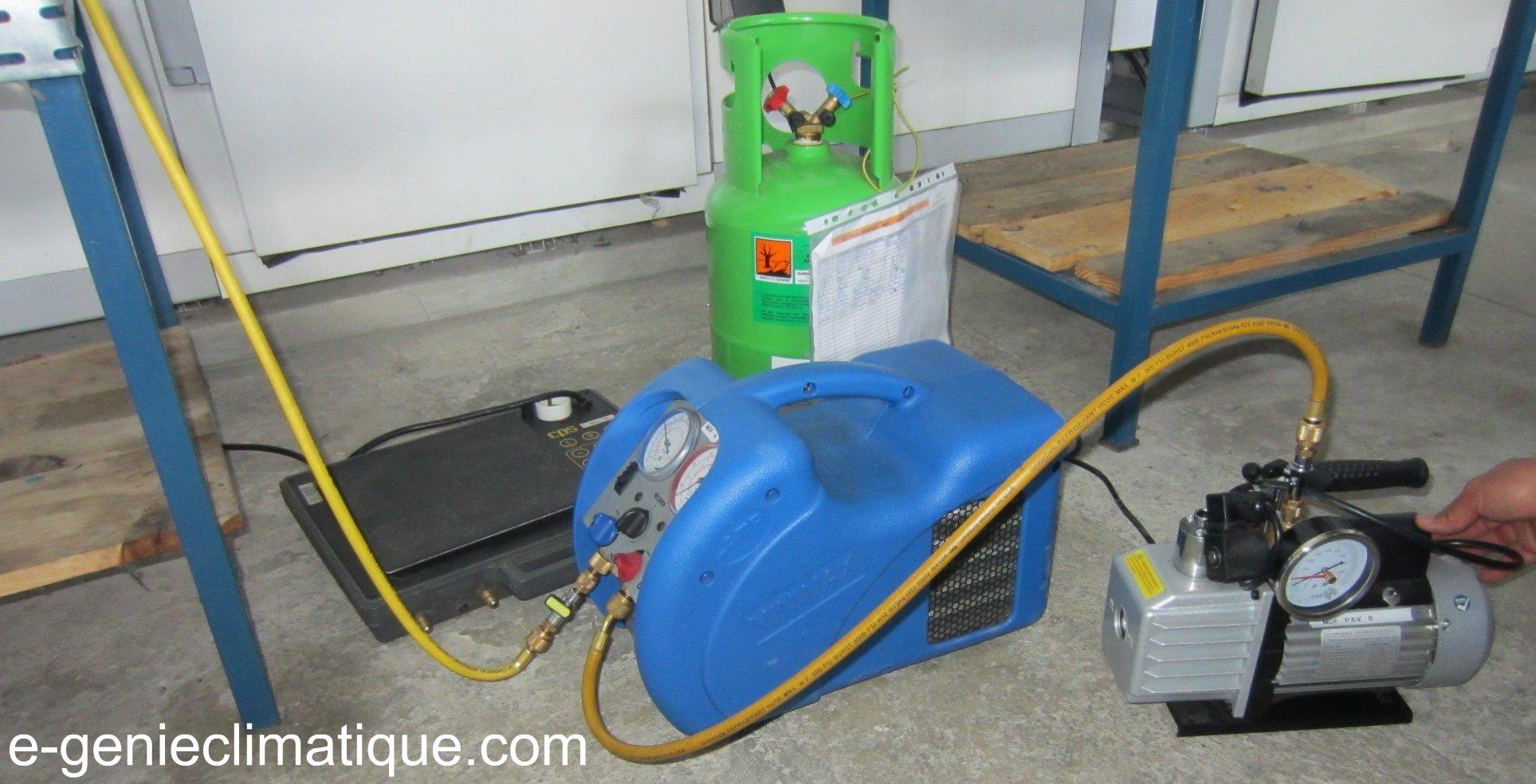 Comment utiliser une pompe a vide climatisation