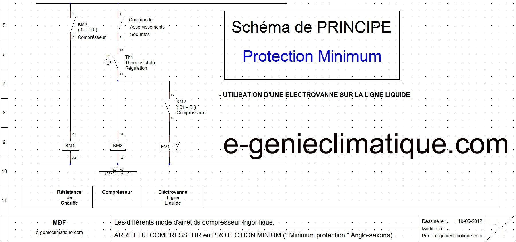 Froid11 sch ma lectrique arr t compresseur minimum protection e - Schema electrique chambre froide ...