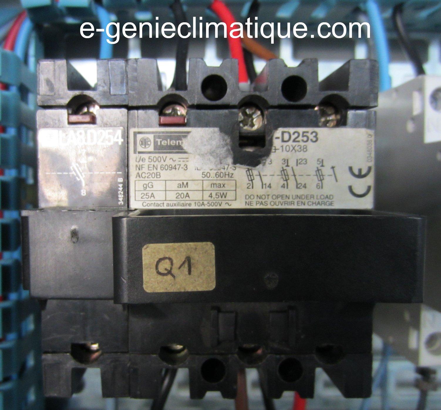 Froid15 le 2 me montage partie 2 sch mas lectriques froid c blage automatic pump down e - Sectionneur porte fusible telemecanique ...