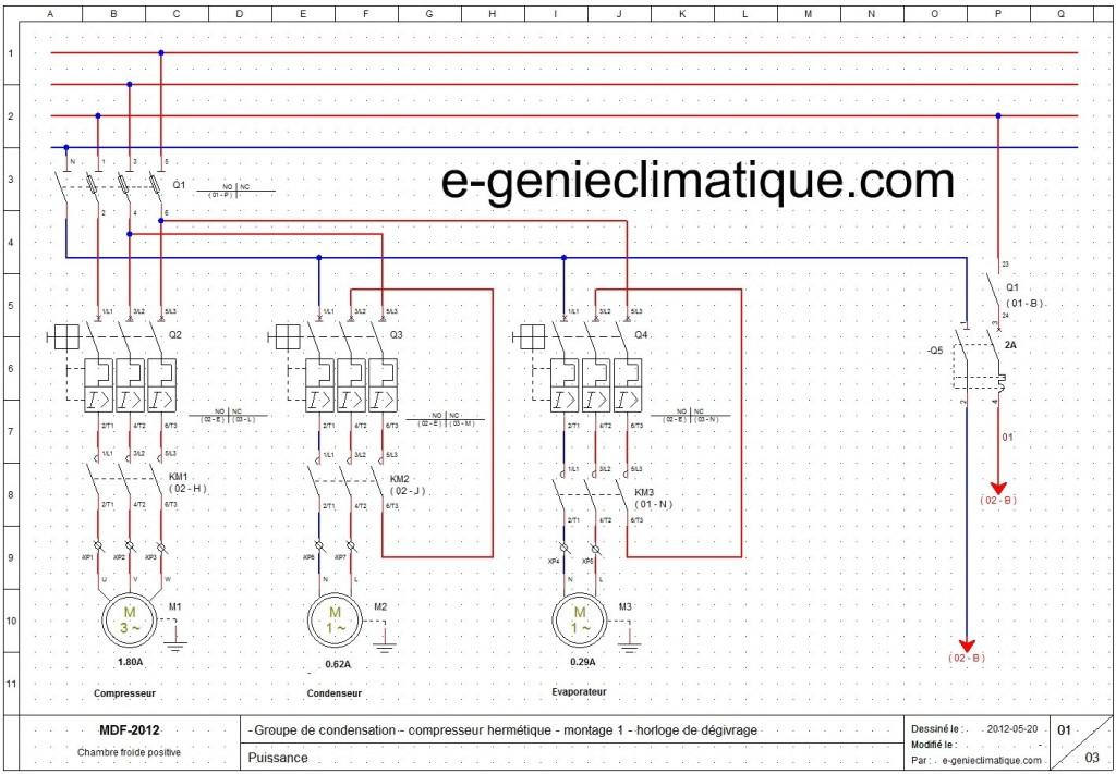 Froid15 le 2 me montage partie 2 sch mas lectriques froid c blage automatic pump down e - Schema electrique chambre froide ...