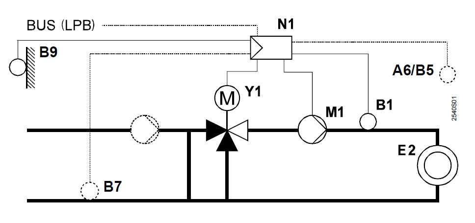 04_RVL480_installation_type_1_regulation_avec_vanne_melangeuse