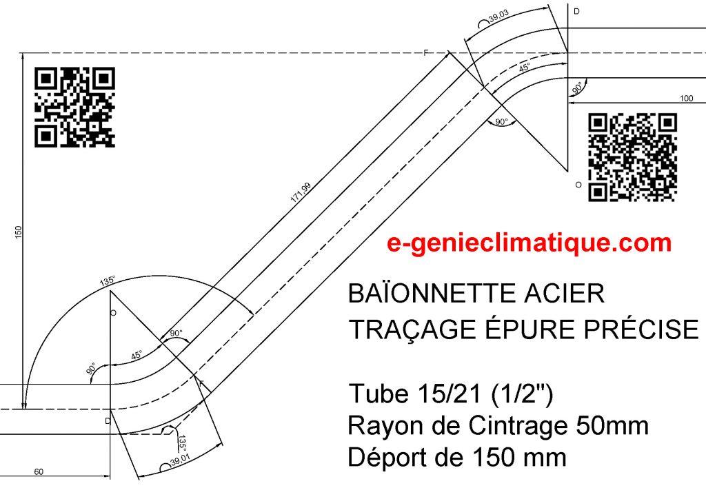 baïonnette-acier-traçage-epure-precise-tube-15x21-1-2-pouce-rayon-de-cintrage-50mm-deport-de-150mm-vue-noir-et-blanc