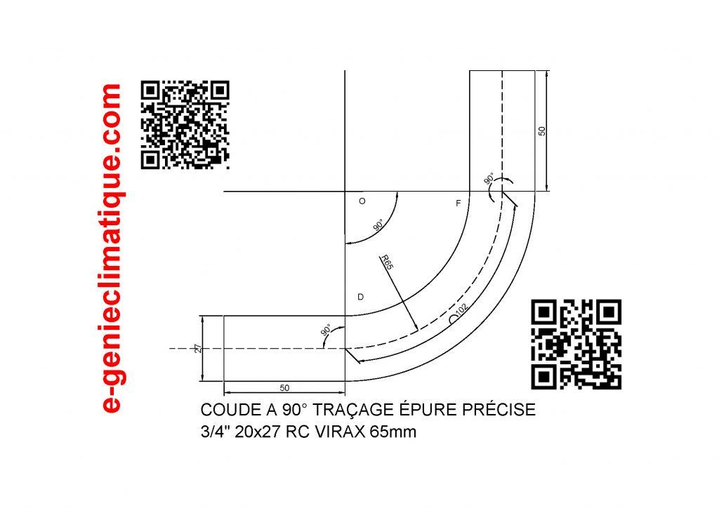 coude-a-90-traçage-epure-precise-tube-acier-3-4-20x27-rayon-cintrage-65mm-viraxvue-CAO-draftsight-vue-en-noir-et-blanc
