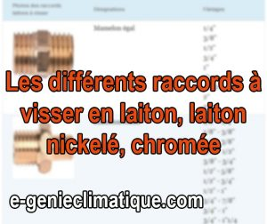 Plomberie06-Fiche-Les-differents-raccords-a-VISSER-en-LAITON-laiton-nickele- chromee