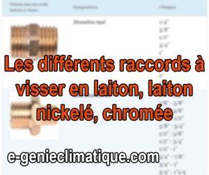 Plomberie06-Fiche-Les-differents-raccords-a-VISSER-en-LAITON-laiton-nickele- chromee
